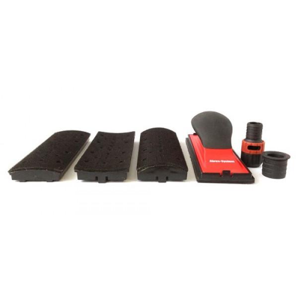 Набор для шлифования выпуклых и вогнутых поверхностей (ср.шлифок 70х198мм, 4 накладки), Abrex-System, шт.