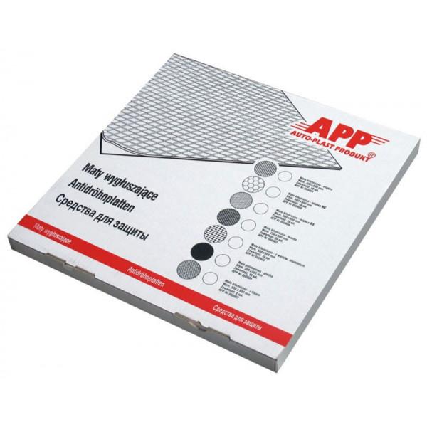 Битумный звукопоглащающий мат гладкий 500х500, APP, шт.