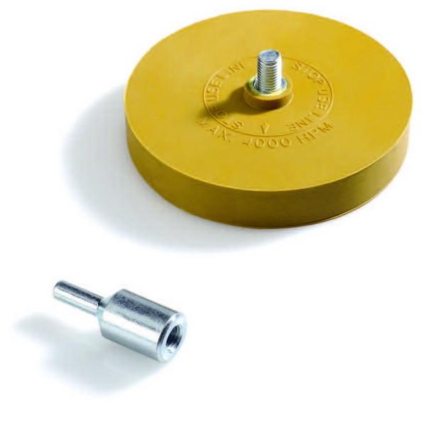 Диск для удаления наклеек и лент с адаптером, D90мм, толщина 15мм, шт.