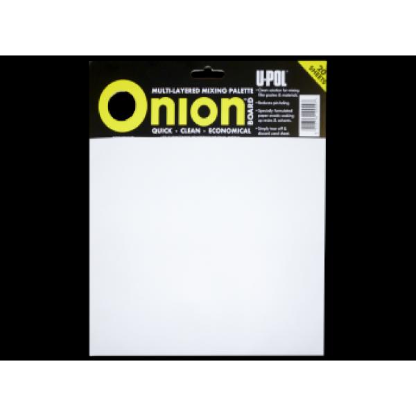 Многослойная палитра для смешивания материалов ONION BOARD (100 листов), U-pol, шт.