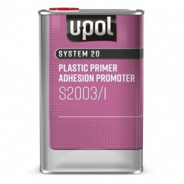 Грунт 1K S2003 адгезионный для пластика,банка 1л.,прозрачный,U-pol, шт.