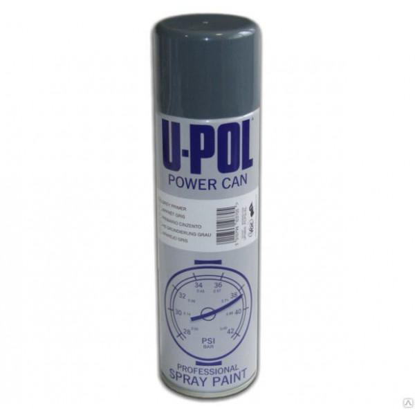 Эмаль глянцевая Power Can Черный глянец Аэрозоль 500 мл., U-pol, шт.