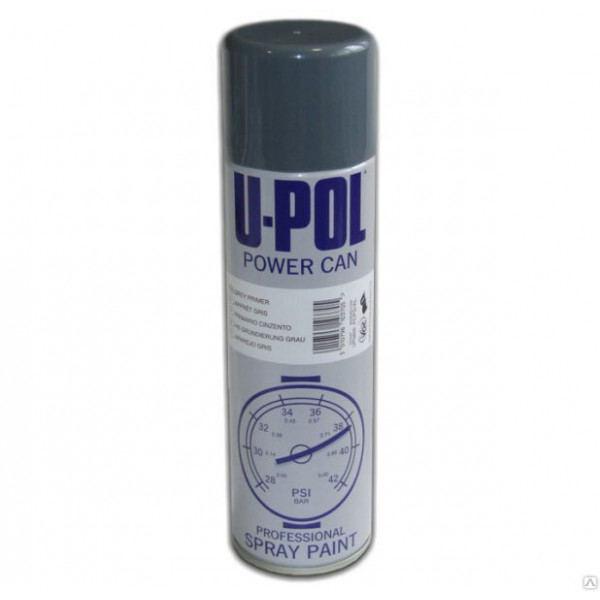 Грунт протравливающий Power Can Etch Primer Темно-серый Аэрозоль 500 мл., U-pol, шт.