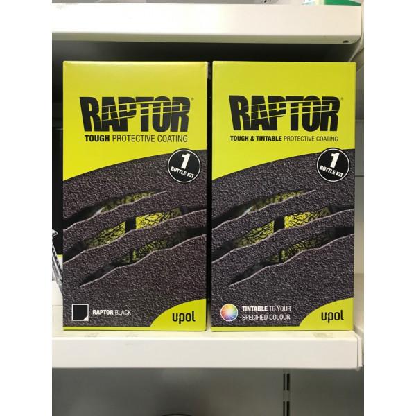 Защитное покрытие RAPTOR 2K повышенной прочности,750мл+250мл, комплект, черный,U-pol, шт.