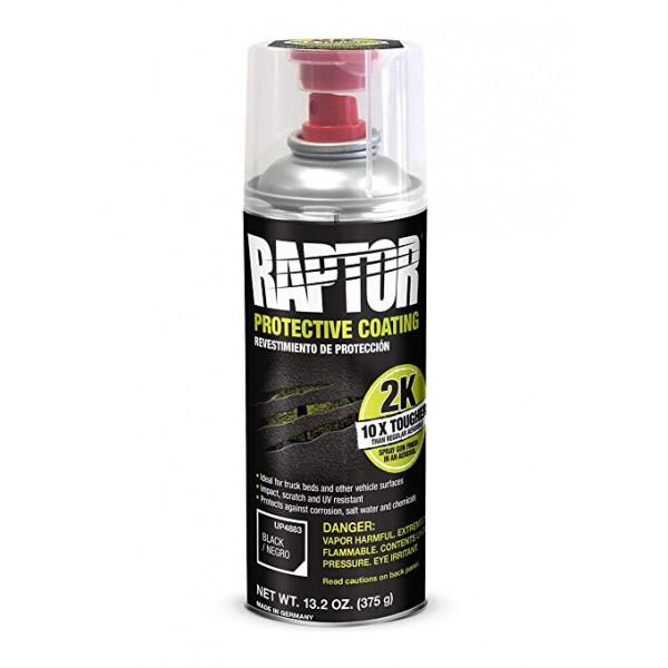 RAPTOR Двухкомпонентное полиуретановае защитное покрытие повышенной прочности, черное, аэроз. 400мл.