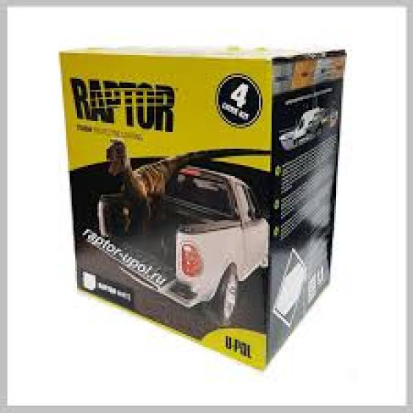 Защитное покрытие RAPTOR 2K 3:1 повышенной прочности, комплект, бутылка 4 1л., белый, U-pol