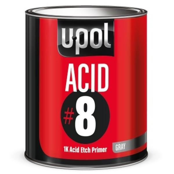 Грунт протравливающий ACID#8,банка 1л.,серый,U-pol, шт.
