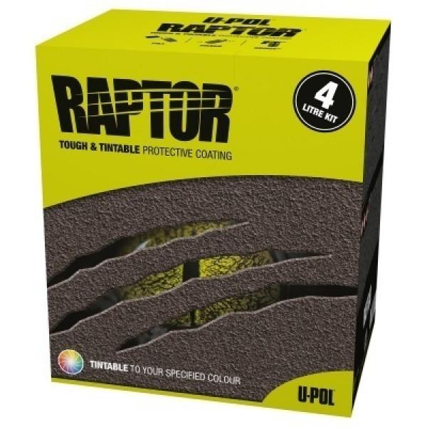 Защитное покрытие RAPTOR 2K 3:1 повышенной прочности,комплект,бутылка 4+1л.,колеруемый,U-pol, шт.