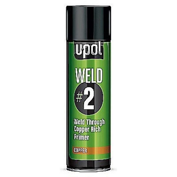 Грунт WELD#2 провариваемый с цинком,аэрозоль 450мл.,цинк,U-pol, шт.
