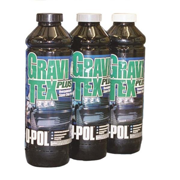 Антигравийное покрытие HS GRAVITEX PLUS,бутылка 1л., белый,U-pol, шт.