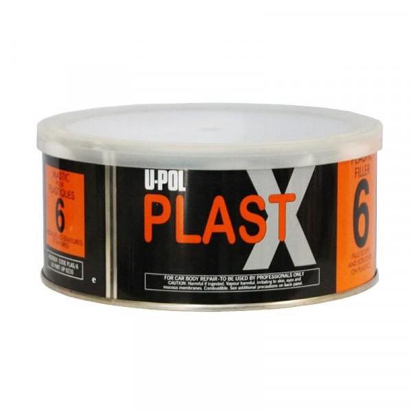 Шпатлевка PLAST X 6 с повышенной адгезией для пластика,банка 600мл.,серебристый,U-pol, шт.