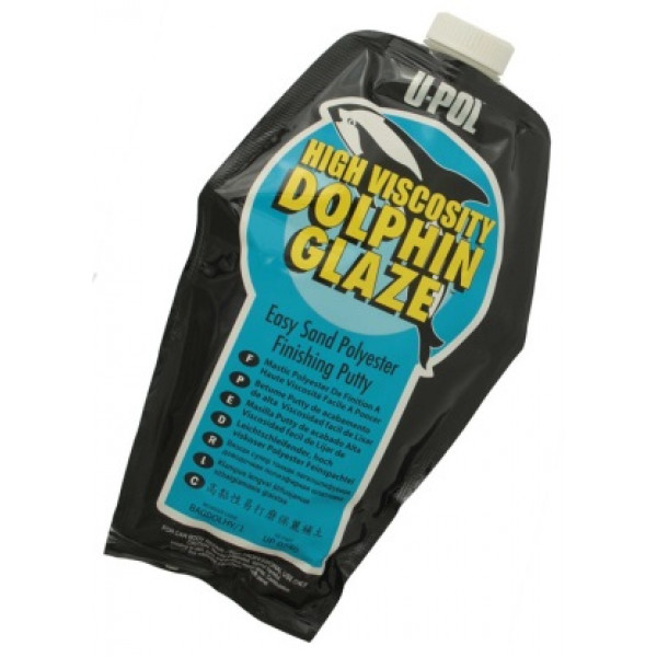 Шпатлевка DOPLHIN ВП жидкая самовыравнивающаяся,пакет 440мл.,лазурный, U-pol, шт.