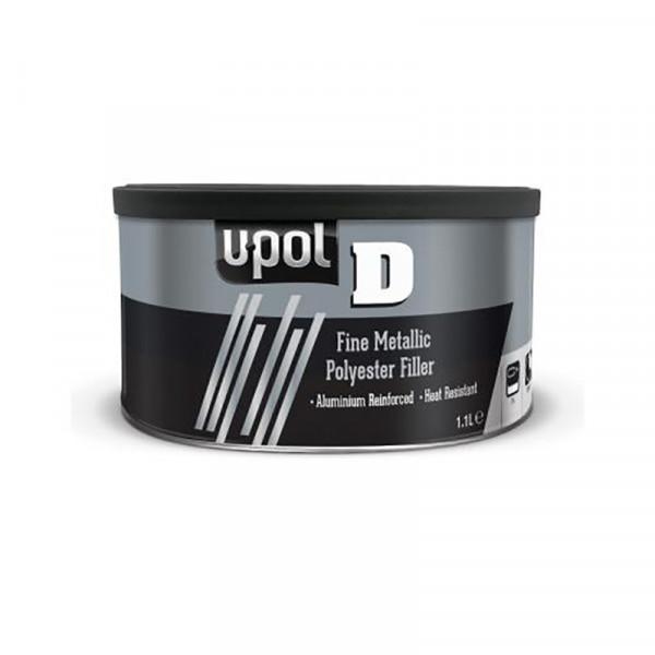 Шпатлевка U-POL D пластичная с алюминием,банка 1.1л.,серебристый,U-pol, шт.