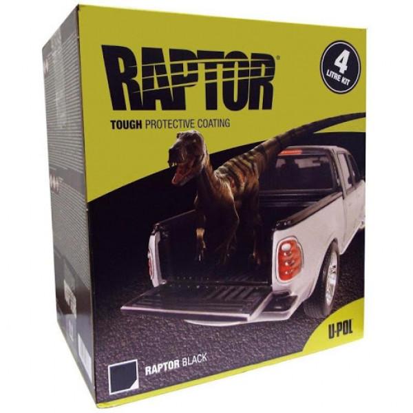 Защитное покрытие RAPTOR 2K 3:1 повышенной прочности,комплект,бутылка 4+1л.,черный,U-pol, шт.